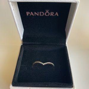 Pandora Shimmering Wish Ring-PANDORA ROSE